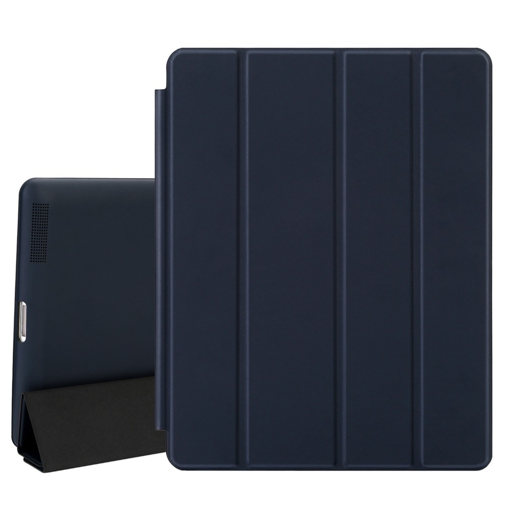 Case For iPad 2 3 4, Magnetic Leather Smart Cover for Apple iPad 4th Generation 3rd Generation 2 with Rubberized Back Case Gift