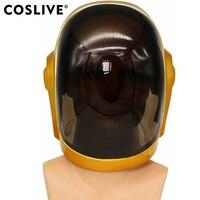 Coslive шлем Daft Punk маска Косплэй ПВХ полный маска голова Хэллоуина реквизит Реплика Daft Punk Косплэй маска для взрослых