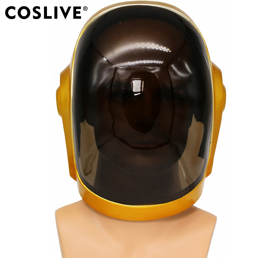 Coslive Daft Punk Helmet Mask Cosplay PVC Full Head Mask Halloween Costume Fancy Props Replica Daft Punk Cosplay Mask For Adults