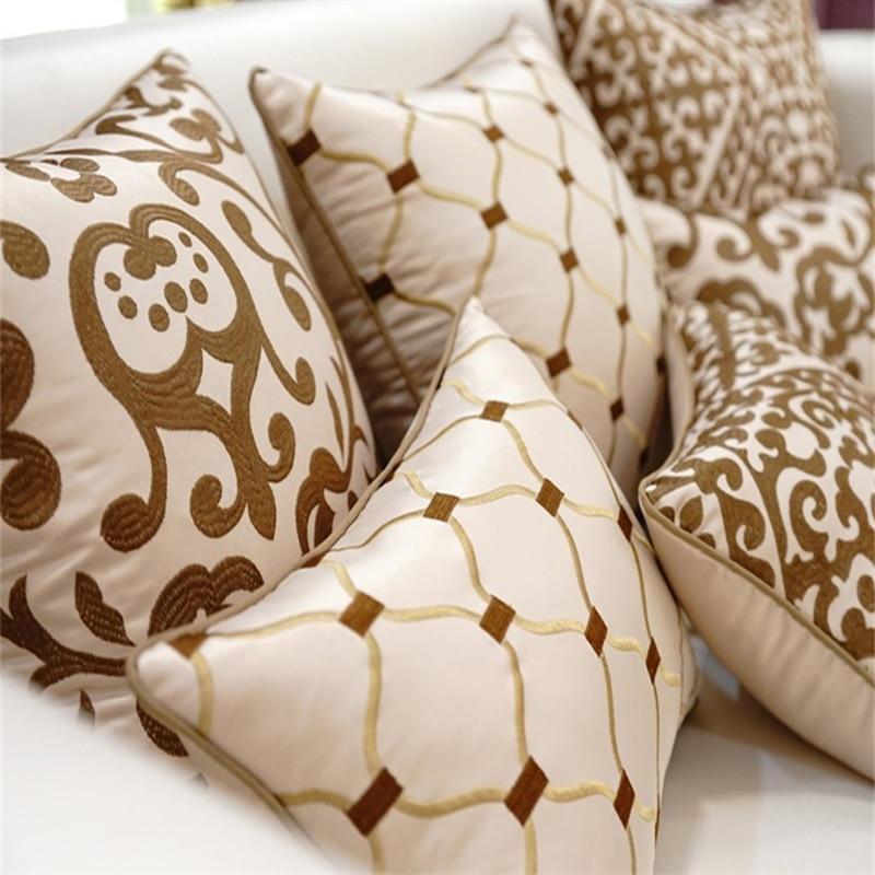 European high end embroidery cushions luxury decor throw - Cojines decorativos para sofas ...