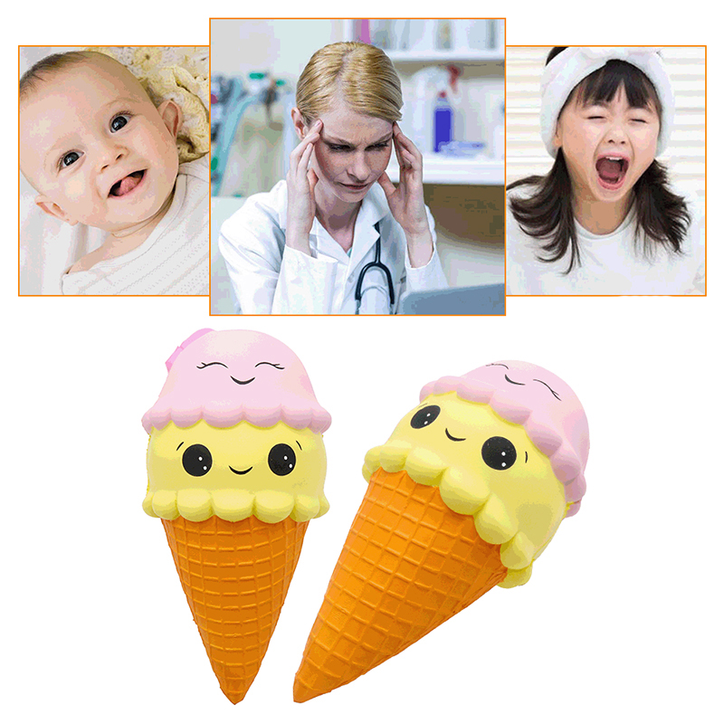 Soft Squishy Ice Cream Scented Collection New Kawaii Slow Rising Cone Jumbo 20cm