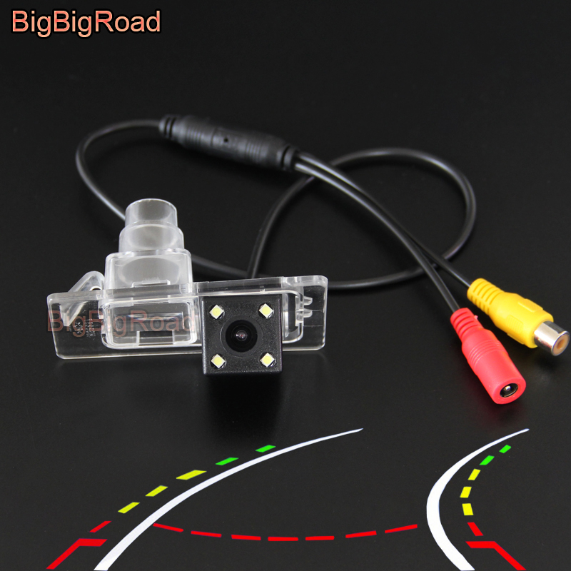 BigBigRoad Car Intelligent Dynamic Trajectory Tracks Rear View Camera For Hyundai Elantra Avante 2012 - 2017 / Kia Cerato Ceed ветровики korea hyundai elantra 2013 avante md 2013