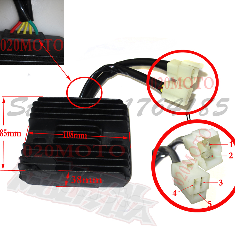 5 pin voltage regulator rectifier cfmoto 250cc motorcycle. Black Bedroom Furniture Sets. Home Design Ideas