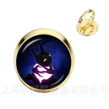 Charmander Pokemon Pokeball Rings Fashion Game Round Glass Dome Silver/Golder 2 Color Adjustable Rings For Women Gift(China)