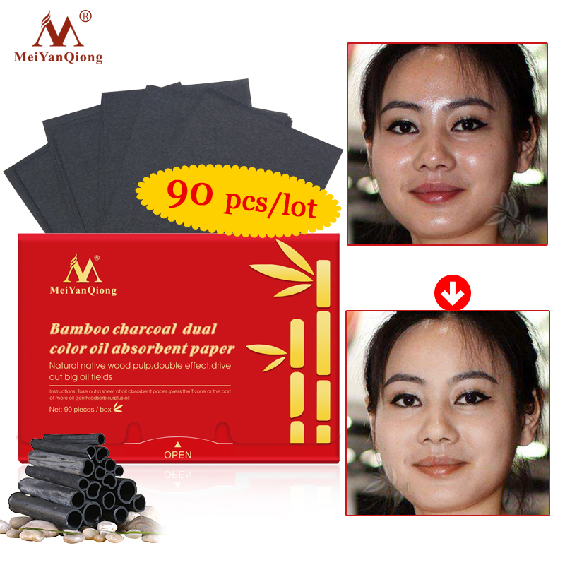Bamboo Charcoal Dual Color Oil Absorbent Paper Face Cleanser Deep Black Head Remover Acne Treatment Beauty Oil Absorbing Sheets
