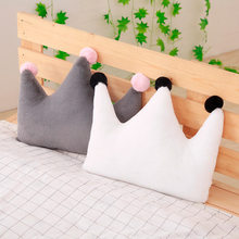 1pc New Super Soft Plush Pillow Lovely Stuffed Heart Moon Crown Star Shape Toys Sofa Cushion Room Decoration Kids Sleeping Doll(China)