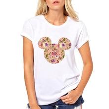 FIXSYS Casual Women T Shirt Lady Summer Tops Tee Cute Round Neck T-shirt S Cartoon Fashion Female White T-shirts