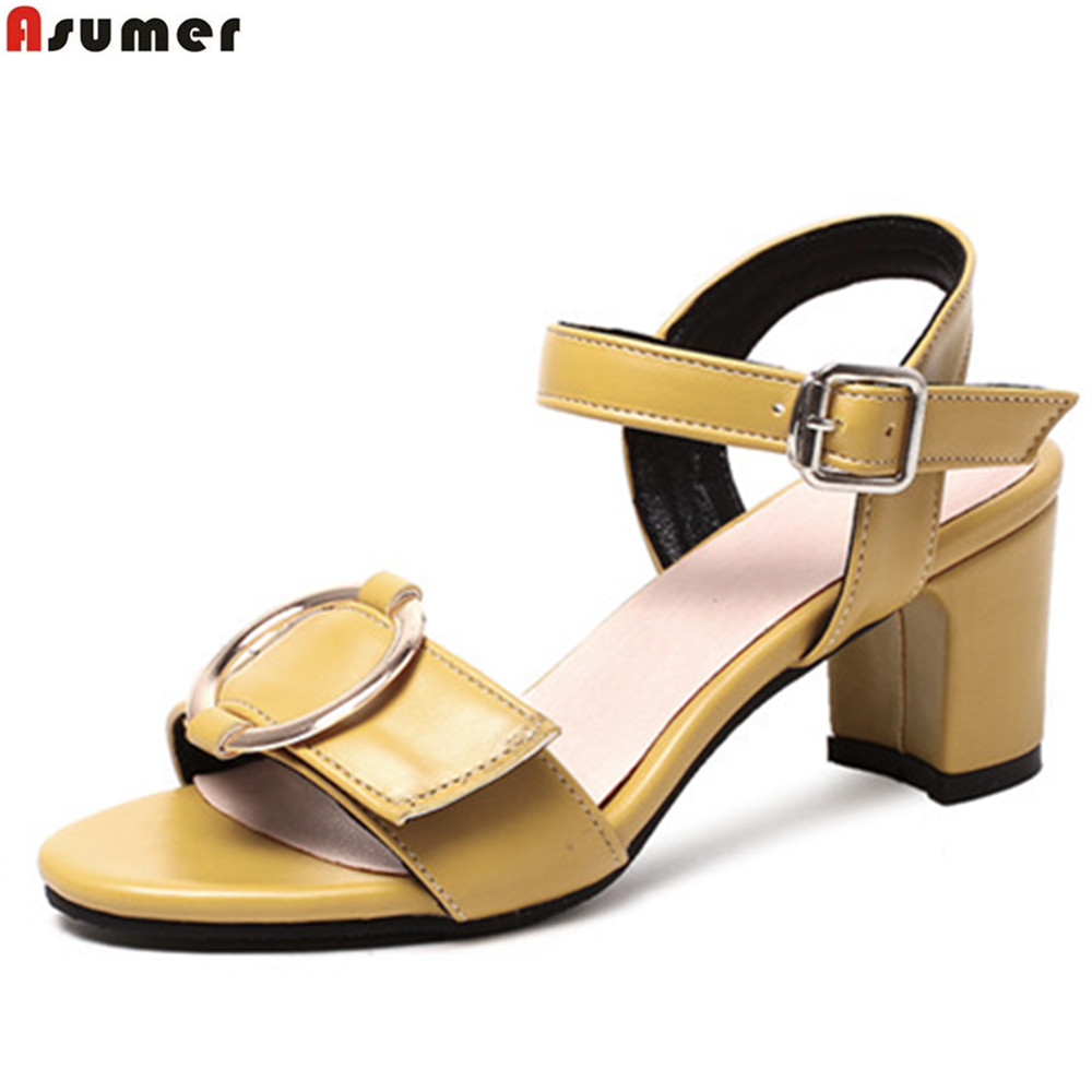 7296e2c5c8b90 ASUMER Plus size 34-42 New 2018 genuine leather women sandals wedges low  heel summer casual shoes black ladies ...