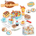 Simulation Diy Fruit Cake Package (75pcs) Classic Toys Pretend Play Kitchen Toys Baby