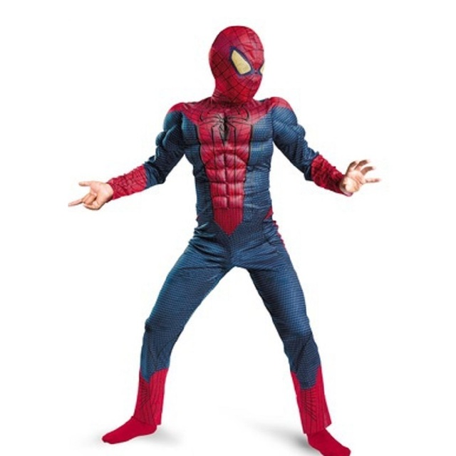 amazing blue spiderman costume kids muscle girl 3d halloween costumes children boys the amazing spider man