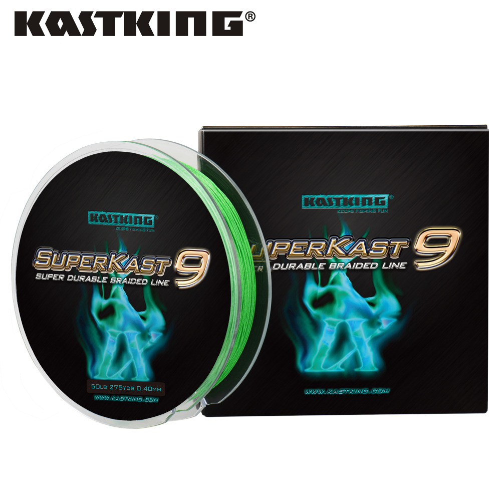 Kastking Braided Multifilament Sea-Fishing Superkast 9-Strand Saltwater For 20-80LB 9-300yards/275m