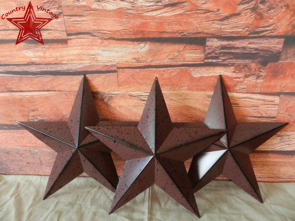 Country Rustic Antique Vintage Gifts Metal Barn Star Wall