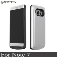 NEWDERY 5000mAh Battery Charger Case For Samsung Galaxy Note 7 / FE Luxury External Backup Power Bank Charger TPU Cover cases