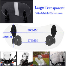 Adjustable Clip On Windshield Spoiler Wind Deflector Fit Motorcycle Transparent(China)