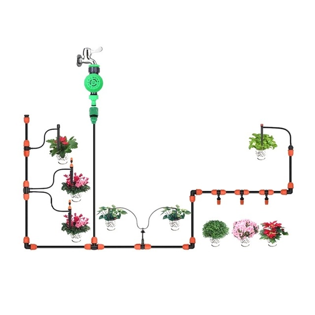 New Multi-function Automatic Watering Kit DIY Home Balcony Flower Garden Irrigation System Different Nozzles Spike Emitters