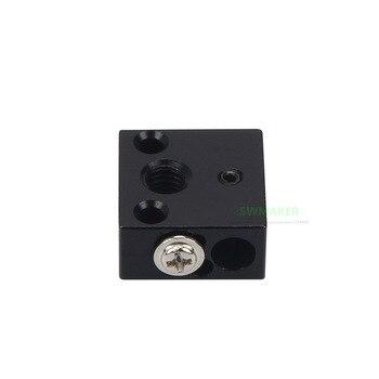 1pcs Upgrade Black Aluminium Creality CR-10 Ender-3 heater block for Creality CR-10 CR-10S Ender-3 3D printer MK8 hotend kit фото