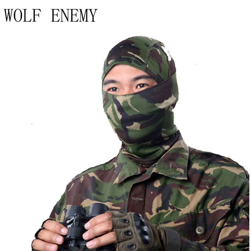 New Elastic Tactical Hood Mask Quick Dry Hunt Full Face Mask Paintball War Game Helmet Army Military Face Mask Hunting Cap