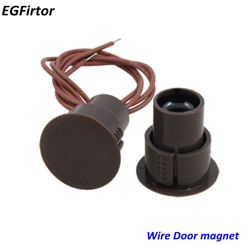 5Pair Wired Magnetic Window Door Contacts Recessed Switch Alarm Sensor NC Output For Security Alarm System