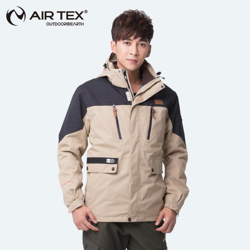 Outdoor men's jacket 2017 men's andOu women's sports uniform two pieces of anti-wind waterproof waterproof four seasons raincoat