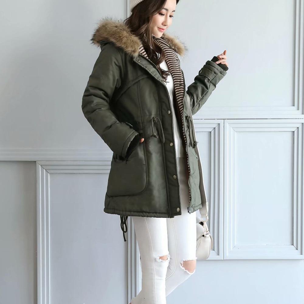Green Capuchon Épaississement Hiver Parkas Manteaux Coton Veste Femelle Army Femmes À Nouveau Manteau D'hiver Pour S61qqw
