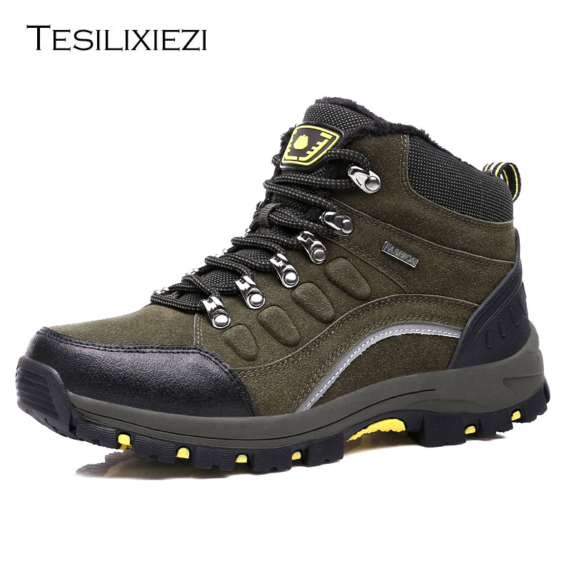 Men Outdoor Hiking Boots Waterproof Non slip Mountaineering Shoes Trekking Hiking Shoes Climbing Stability Anti slip Shoes 2017 new men hiking shoes non slip waterproof women trek climbing shoes outdoor breathable mountain trial lover trekking shoes