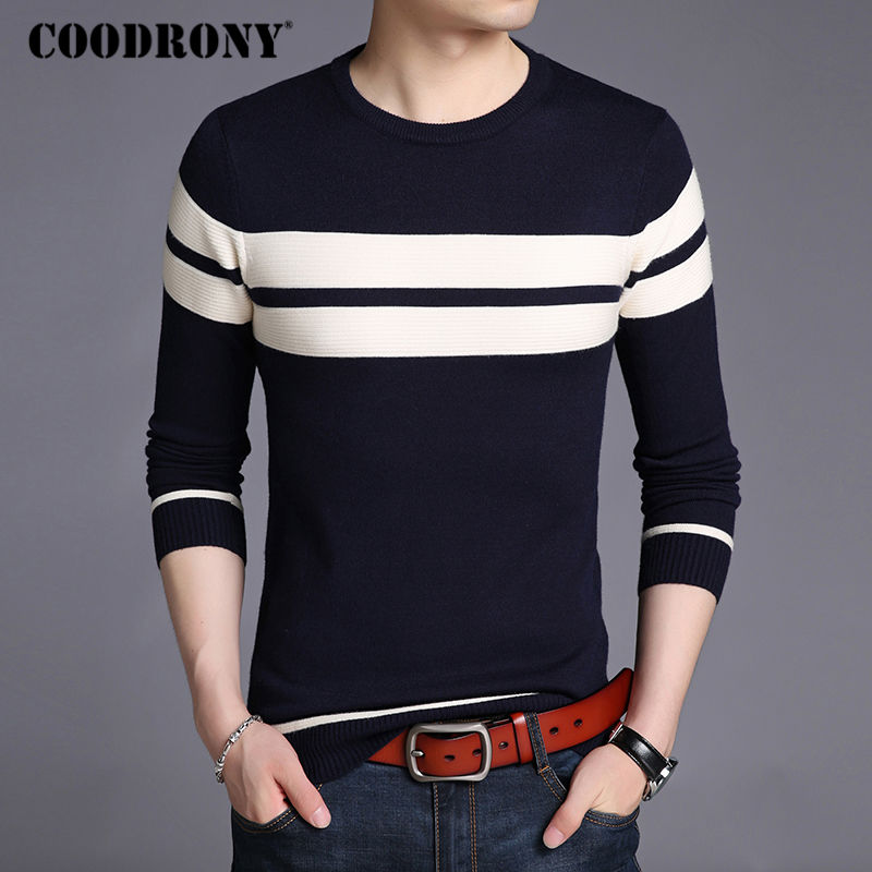Image 3 - COODRONY Mens Knitted Cashmere Wool Sweaters 2019 Autumn Winter New Pullover Men Casual O Neck Jumper Sweater Men Pull Homme 217-in Pullovers from Men's Clothing