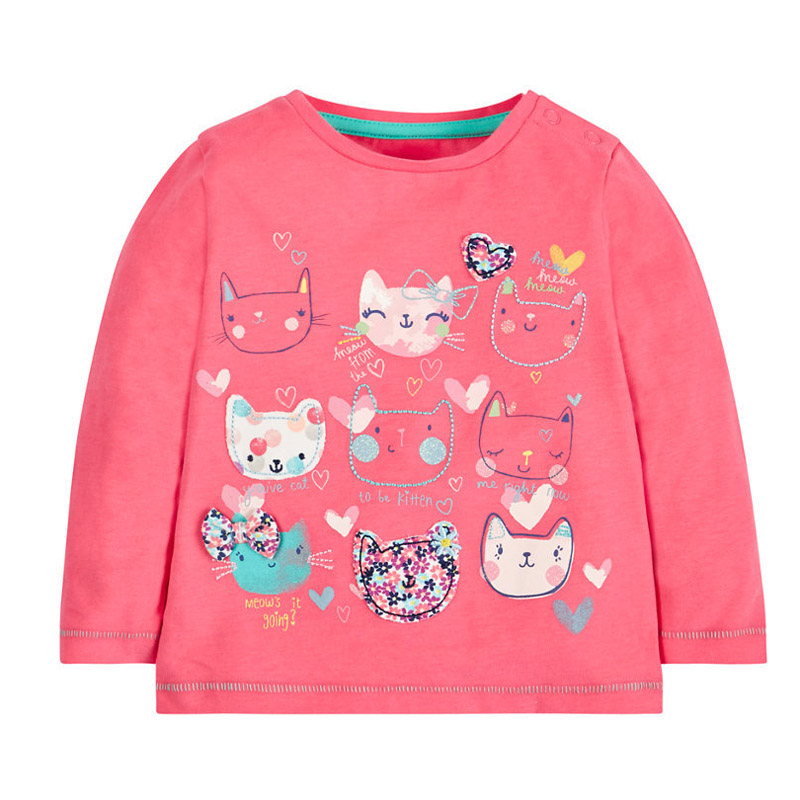 Jumpingbaby 2018 Kids Clothes Children Girls T shirt Camiseta Dinossauro T-shirts Baby Kitty Toddler Girl T-shirt Roupas Santa женский топ esme oem t camiseta ropa mujer camisetas y 2015 wtop69