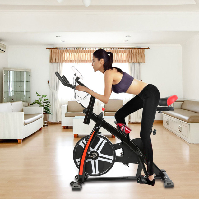 2018 New Pedal exercise bicycle mute household magnetic stationary exercise bike