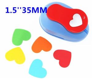 Image 2 - 3PCS (5 cm, 3.8 cm, 2.5 cm) לב צורת קרפט אגרוף סט ילדי ידני DIY חור אגרופים cortador דה papel דה scrapbook אגרוף המעגל