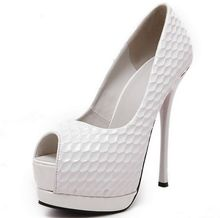 Size 4~8 White Women Shoes Autumn Charm High Heels Shoes Women Pumps zapatos mujer (Check Foot Length)