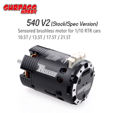 SURPASSHOBBY Rocket 540 V2 10.5T 13.5T 17.5T 21.5T Sensored Brushless Motor for Spec Stock Competition 1/10 1/12 F1 RC Car