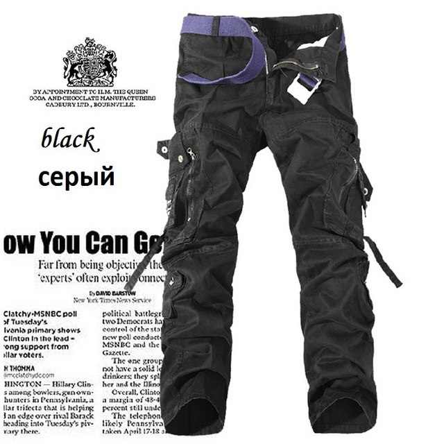 MDJ Size28-40 Pockets High Quality Casual Cargo Pants For Men Cotton Trousers 6XL Mens Baggy Pants Pantalones Hombre