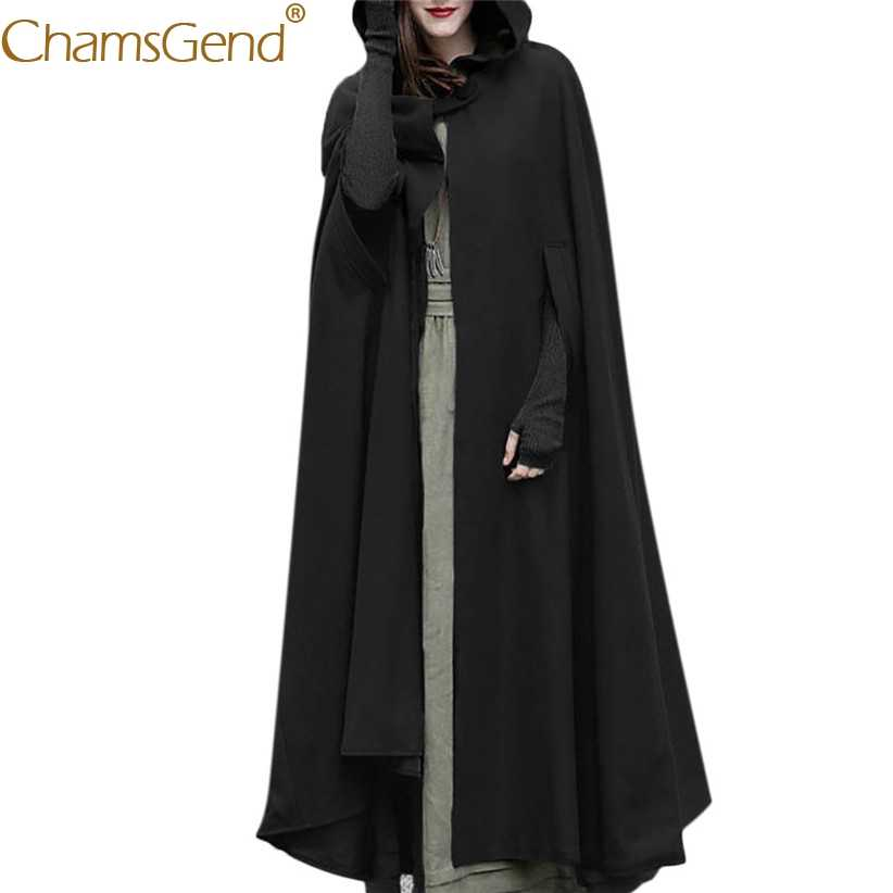 Newly Design Women Long Poncho Cape Winter Female Man Open Front Cardigan Long Coat Windproof Warm Warps Woman Trench Coat 81106