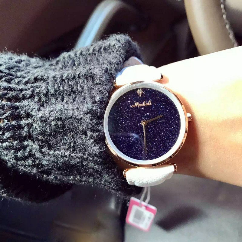 Fashion Brand Women Quartz Dress Watch Genuine Leather Full Crystal Diamond Bling Glitter Ladies Wristwatch Mujer