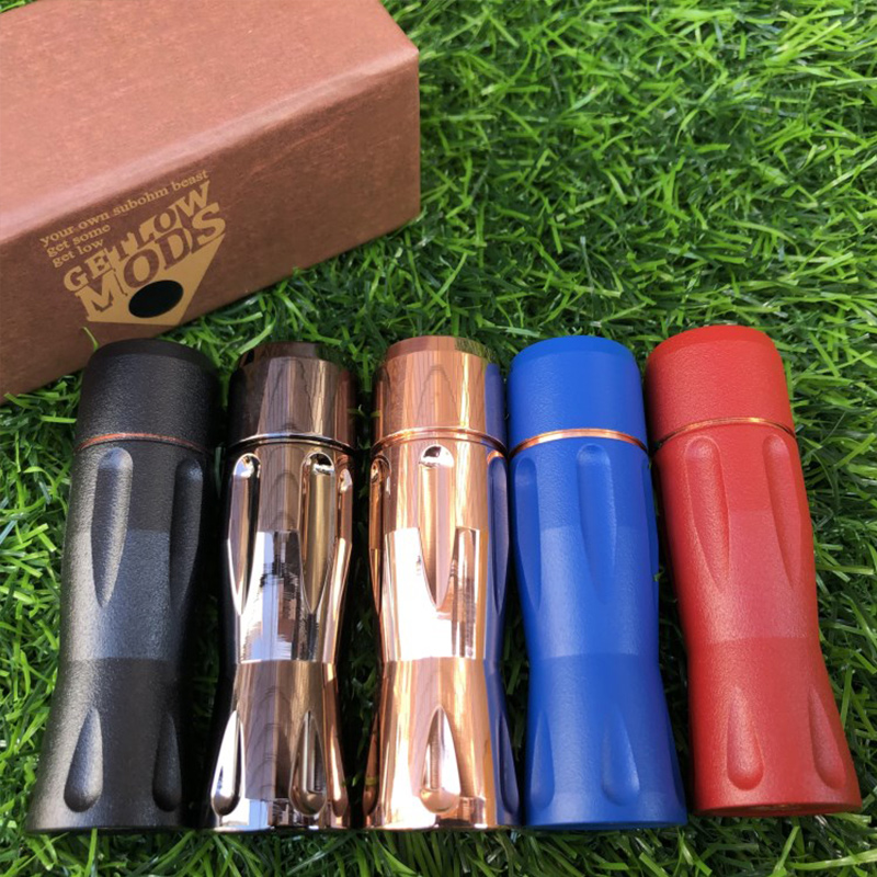 Get Down V3 Kit Mod 18650 Battery Brass Copper Red Vaporizer 24mm Mod Glm V3 Rda VS Elthunder Mod Get Mod V3 E Cigarette Vaper