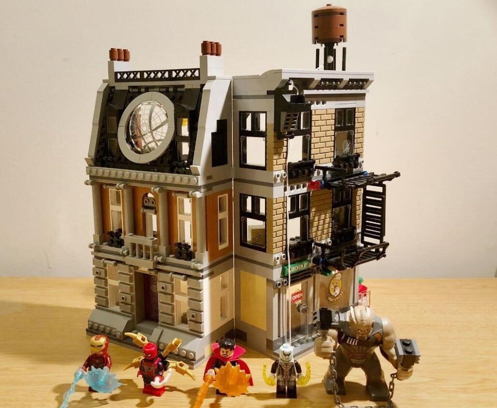 Marvel Avengers Legoings Thanos Infinity War Sanctum Sanctorum Showdown Building Blocks Toys Compatible 76108 цена