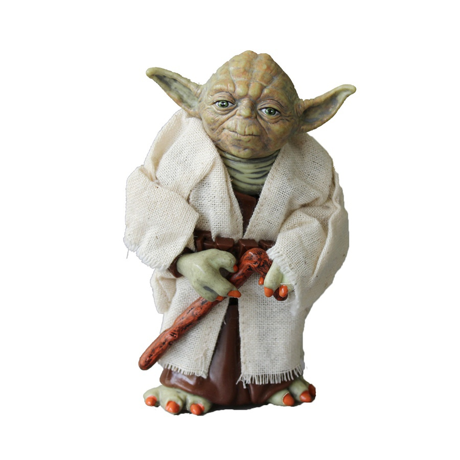 Promotional Star Wars Yoda PVC Action Figure Toys Collectible Toy for Kids Christmas Gift 12 CM 1