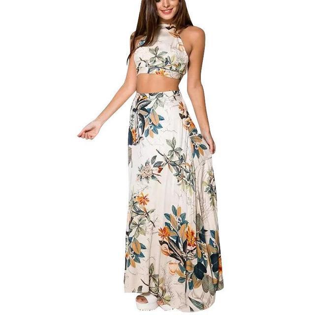 Модная элегантность растений вдоль пляжа короткие юбки топ женский игра из двух частей пояса случайных паста