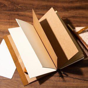 Image 5 - Junetree Handgemachte Rindsleder Vintage Notebook Journal Blank Leder Abdeckung Tagebuch echtes leder reise tagebuch Sketch Planer