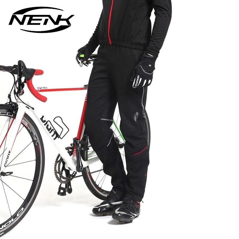NENK Bicicletta Della Bici Pantaloni Uomo Termico del Panno Morbido Bike Attrezzature Pantaloni Antivento Pantaloni Sport All'aria Aperta Pantaloni Autunno Inverno