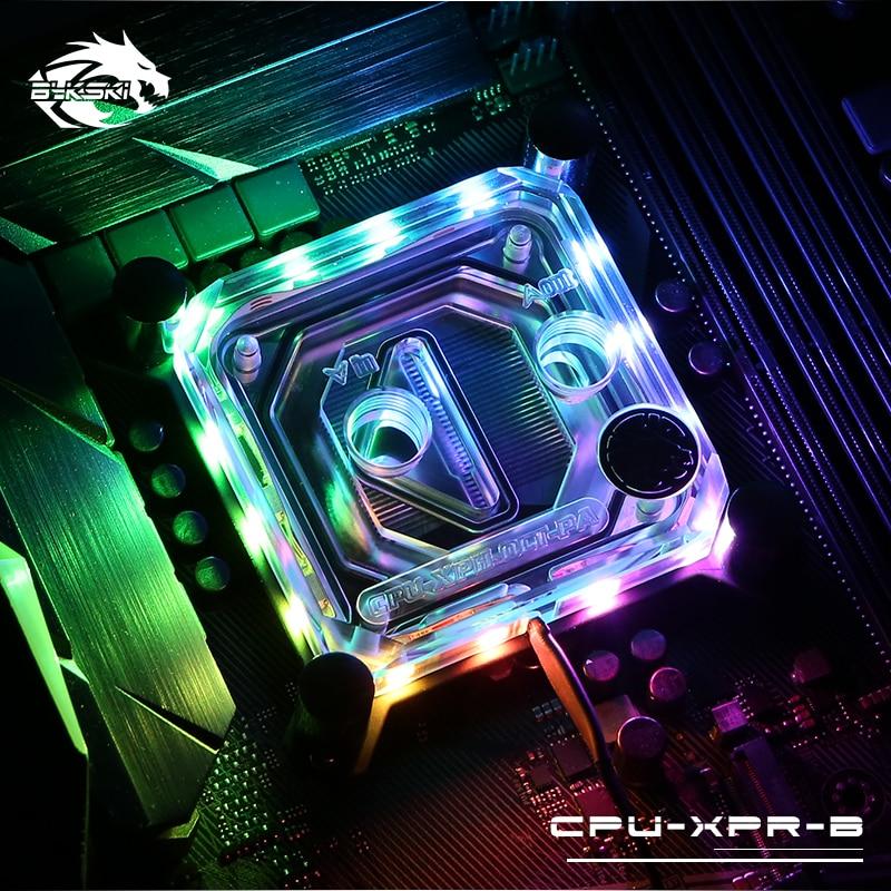Bykski CPU XPR B PA For Intel Lga115x 2011 CPU Water Blocks RBW Lighting System Microwaterway