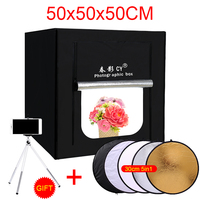 CY 50 50 50cm Photo Studio LED Soft Box Shooting Light Tent Photo Light Tent Set