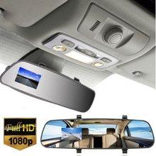 2.7 Дюймов LCD HD 1080 P Автомобилей Автомобиля DVR Камеры Заднего Вида зеркало Цифровой Видеорегистратор Cam Даш Видеокамера 140 Градусов Широкоугольный угол