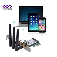 300Mbps 2 4G 5G Wireless Network PCI Express Adapter With 3 Antennas Internal Wireless Network Cards