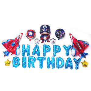 Image 5 - 85 개/몫 슈퍼 히어로 복수 자 아이 생일 파티 장식 ironman 스파이더 맨 헬륨 호일 풍선 babyshower 아이 장난감 선물