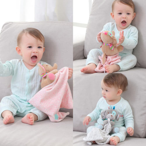 Security Blanket Infant Ease Towel Play Toy Doll Animal Baby Toddler Comforter