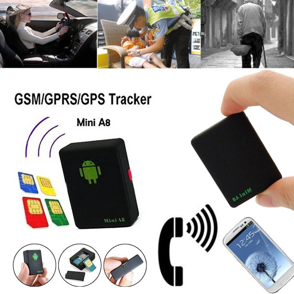 GPS Tracker mini A8 GSM/GPRS/GPS Tracking Device Track Quad Band Sound Control Dialing SOS For children/pet/car