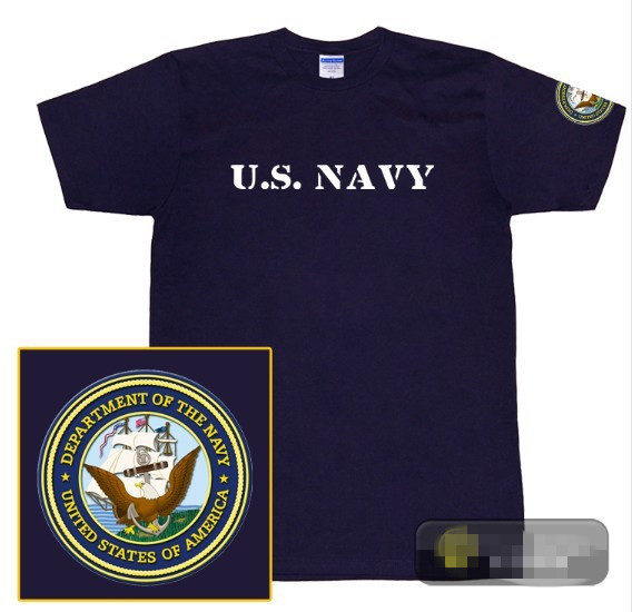 short sleeve T shirt US NAVY O-neck navy blue tee police army FBI t shirt  PLUS SIZE a5a1bfebf5c