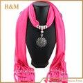 2016 новинка зимой теплый шарф женщин прелести шарф сплав подвеска ювелирных шарфы шарф ожерелья