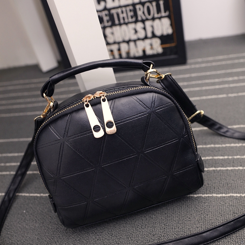 New Fashion Women Solid PU Leather Handbag High Quality Chain Shoulder Lady Messenger Bag Candy Color Crossbody Bags  new arrive women leather bag fashion zipper handbag high quality medium solid shoulder bag summer women messenger bag